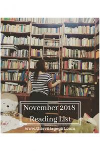 November 2018 Books to read