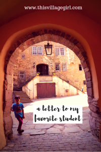 A Love Letter to my Favorite Student