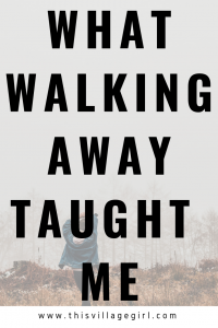 Walk away. it's Okay.