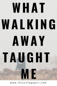 Walk away. it's Okay.